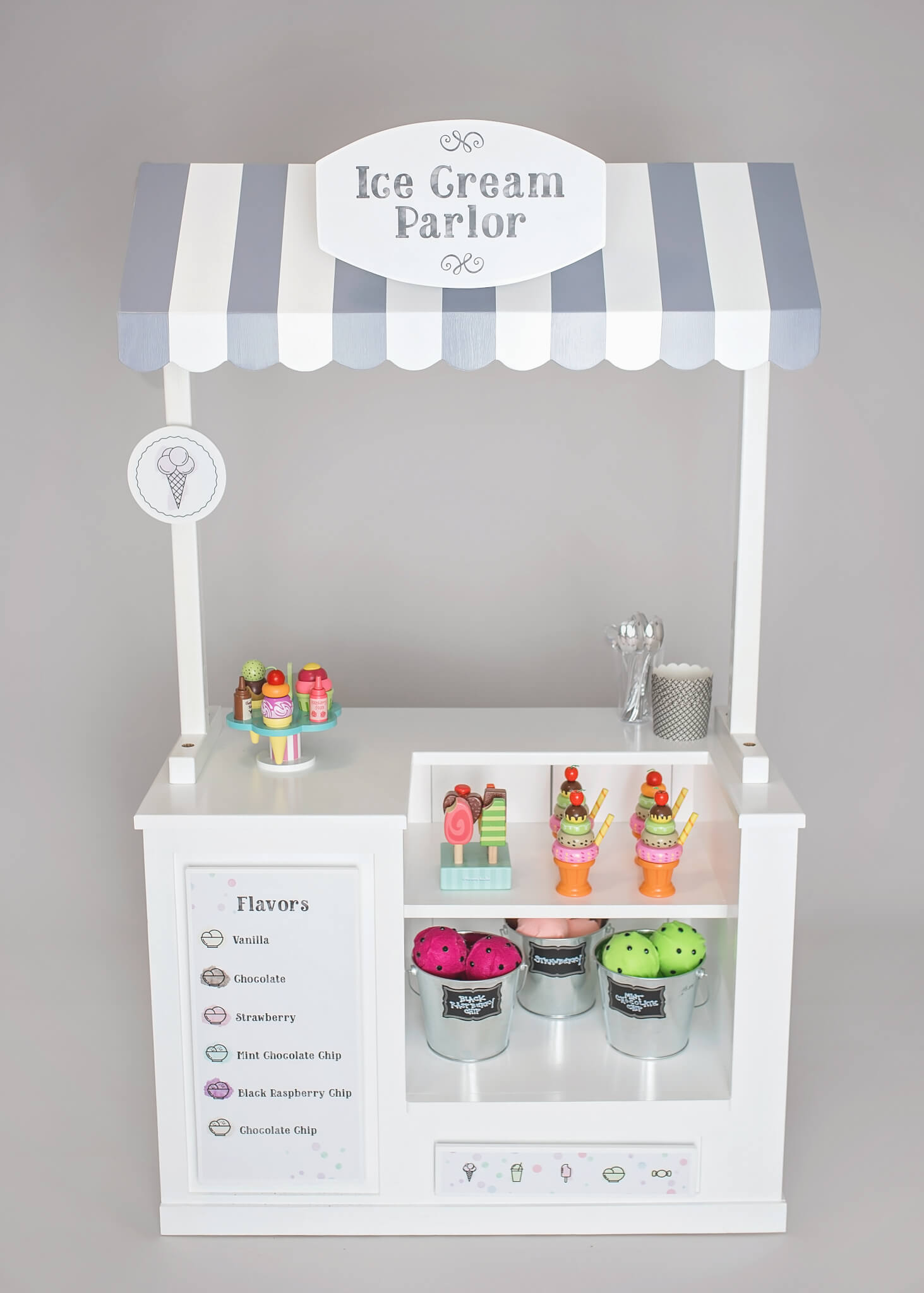Ice Cream Parlor Play Stand Interchangeable Themes